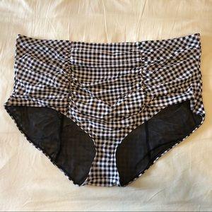 Torrid Gingham Bikini Bathing Suit Bottom